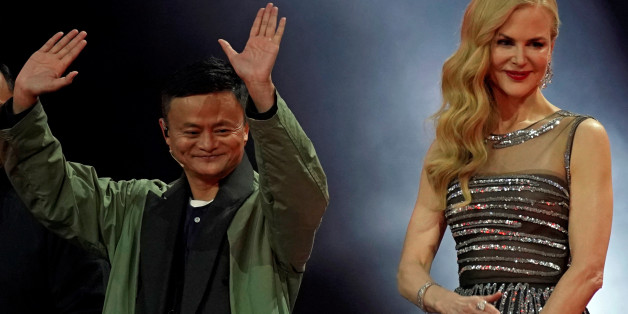 Jack Ma, Chairman of Alibaba Group, and actor Nicole Kidman attend a show during Alibaba Group's 11.11 Singles' Day global shopping festival in Shanghai, China, November 10, 2017. REUTERS/Aly Song