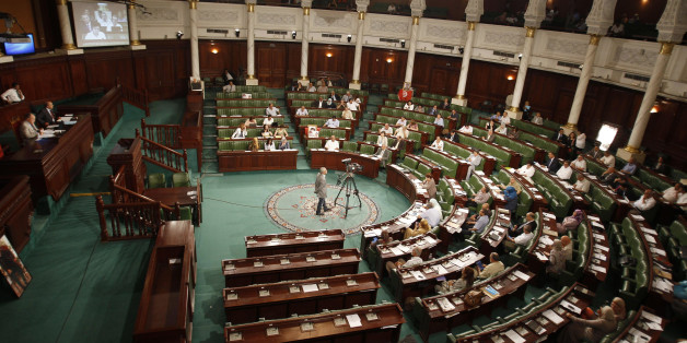 A general view shows Tunisia's Constituent Assembly, in Tunis June 25, 2014. Tunisia's parliament on Wednesday agreed to hold parliamentary elections on October 26 and a presidential poll a month later, another step towards full democracy in the country that toppled its autocrat ruler in 2011. REUTERS/Zoubeir Souissi (TUNISIA - Tags POLITICS - Tags: ELECTIONS POLITICS)