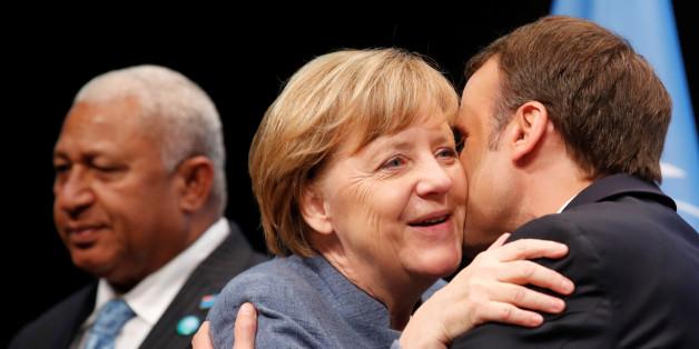 Merkel bleibt in ihrer Rede auf der Klimakonferenz vage - danach stiehlt Macron ihr die Show