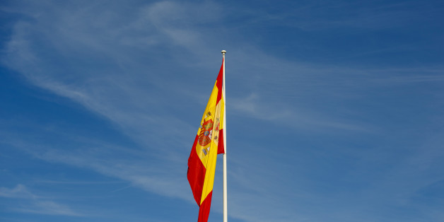 A Spanish national flag hangs from a flagpole in the San Sebastian de los Reyes district of Madrid, Spain, on Tuesday, Dec. 27, 2016. Spanish banks and borrowers are assessing the impact of a ruling by Europes top court that lenders charged too much for mortgages. Photographer: Angel Navarrete/Bloomberg via Getty Images