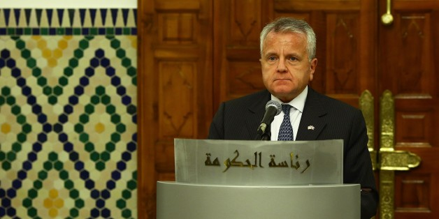 TUNIS, TUNISIA - NOVEMBER 17: U.S. Deputy Secretary of State, John Sullivan holds a press conference after meeting with Prime Minister of Tunisia Youssef Chahed (not seen) in Tunis, Tunisia on November 17, 2017. (Photo by Yassine Gaidi/Anadolu Agency/Getty Images)