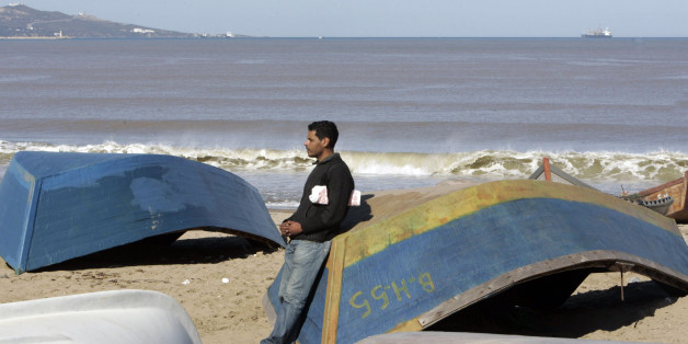 Marketing graduate Belbai Abdelghani is pictured at Sidi Salem beach, 600 km (372 mi) west of Algiers. Picture taken February 05, 2009. Up to half of Algeria's young men are tempted by illegal migration to Europe.  To match feature ALGERIA-MIGRANTS   REUTERS/Louafi Larbi (ALGERIA)