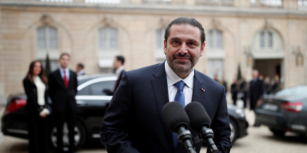 Saad al-Hariri, who announced his resignation as Lebanon's Prime Minister while on a visit to Saudi Arabia, talks to journalists after a meeting with the French President at the Elysee Palace in Paris, France, November 18, 2017. REUTERS/Benoit Tessier