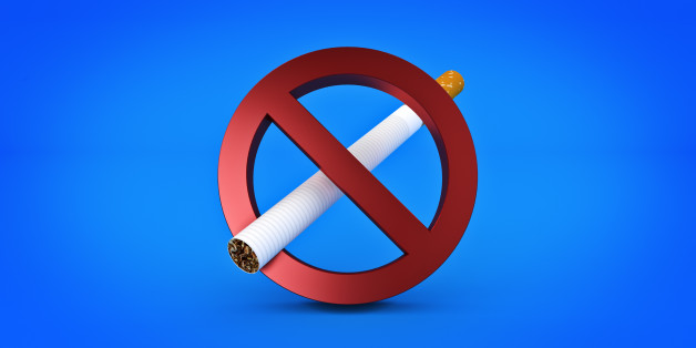 No Smoking Sign isolated. 3d rendering