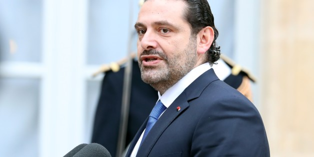 PARIS, FRANCE - NOVEMBER 18: Lebanese Prime Minister Saad Hariri speaks after a meeting French President Emmanuel Macron (not seen) at the Elysee Palace in Paris, France on November 18, 2017. (Photo by Mustafa Yalcin/Anadolu Agency/Getty Images)
