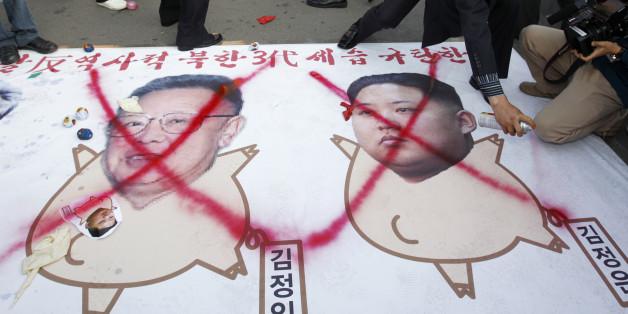 Schon vor Jahren machten Gegner des Regimes in Nordkorea klar, was sie vom Kim-Clan halten