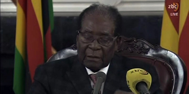 A video grab made on November 19, 2017 from footage of the broadcast of Zimbabwe Broadcasting corporation (ZBC) shows Zimbabwe's President Robert Mugabe delivering a speech in Harare, following a meeting with army chiefs who have seized power in Zimbabwe.Zimbabwean President Robert Mugabe, in a much-expected TV address, stressed he was still in power after his authoritarian 37-year reign was rocked by a military takeover. Many Zimbabweans expected Mugabe to resign after the army seized power las