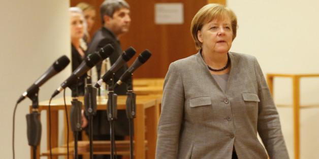 Kanzlerin Angela Merkel in Berlin nach dem Scheitern der Jamaika-Gespräche