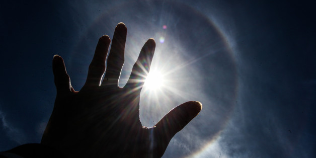 ACEH, INDONESIA - AUGUST 25: A solar halo, a phenomenon caused by ice crystals in the atmosphere, is seen on August 25, 2017 in Aceh, Indonesia.