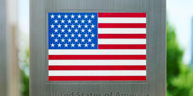 National flags on metal pole series - USA