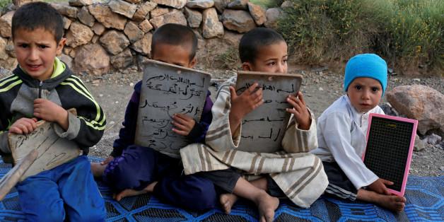 Des enfants dans une école coranique à Tinghir, Maroc, le 11 juin 2017.
