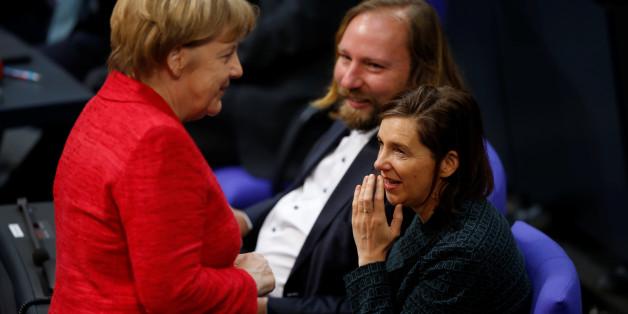 Merkel bei den Grünen