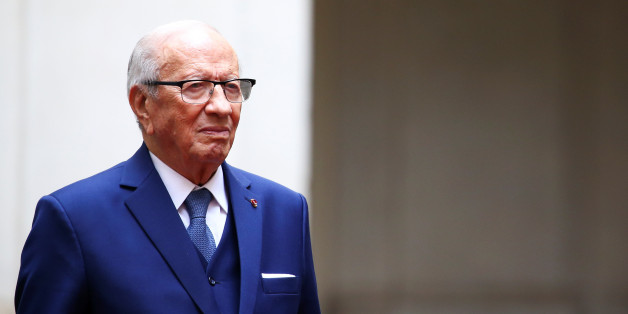 Tunisia's President Beji Caid Essebsi arrives to meet Italy's Prime Minister Paolo Gentiloni at the Chigi Palace in Rome, Italy, February 8, 2017. REUTERS/Alessandro Bianchi