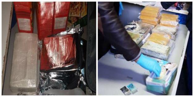 A Tanger, des kilos de drogue cachés dans des boîtes de corn flakes