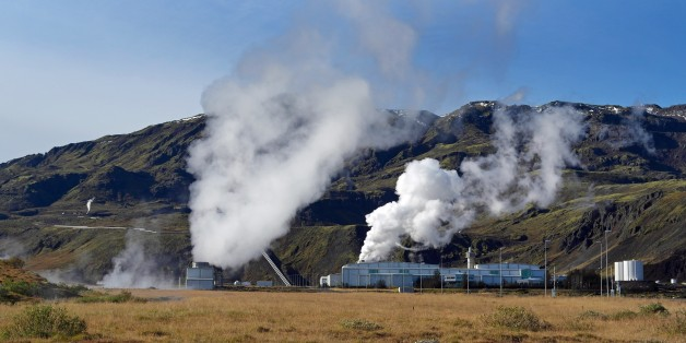 Geothermal energy plant.Iceland