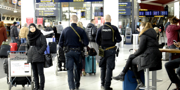 Kastrup.Copenhagen.Denamrk _Danish police repsents t Copenhagen interntional airport Kastrup after the terrorest attacked in Copenhagen Denmark couple of weeks ago 03 March 2015 (Photo by Francis Joseph Dean/Deanpictures) (Photo by Francis Dean/Corbis via Getty Images)