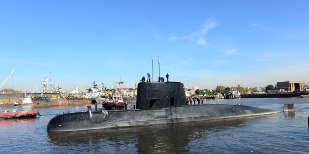 The Argentine military submarine ARA San Juan and crew are seen leaving the port of Buenos Aires, Argentina June 2, 2014. Picture taken on June 2, 2014. Armada Argentina/Handout via REUTERS ATTENTION EDITORS - THIS IMAGE WAS PROVIDED BY A THIRD PARTY.     TPX IMAGES OF THE DAY