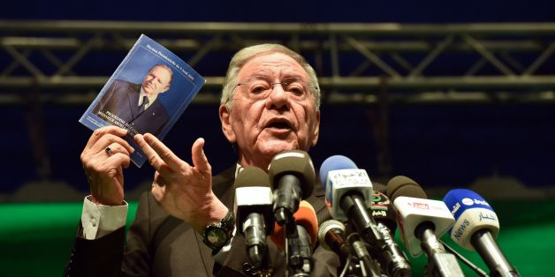 CORRECTION - Djamel Ould Abbes, Algerian Secretary General of the National Liberation Front (FLN), speaks at a party conference in the capital Algiers on April 28, 2017, while campaigning for the upcoming legislative polls scheduled for May 4. / AFP PHOTO / RYAD KRAMDI / The erroneous mention[s] appearing in the metadata of this photo by RYAD KRAMDI has been modified in AFP systems in the following manner: [April 28] instead of [April 27]. Please immediately remove the erroneous mention[s] from