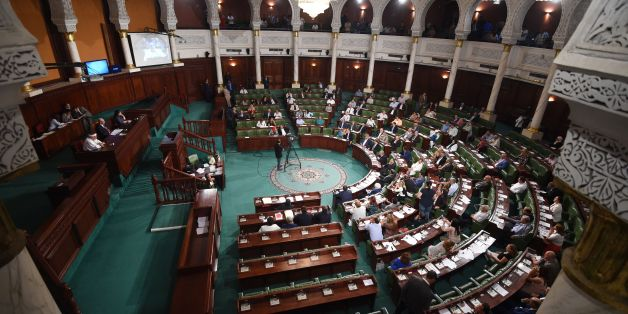 A general view shows the Tunisian parliament during a session to discuss a contested reconciliation bill which would grant amnesty to officials accused of corruption during the rule of the former regime, in Tunis on September 13, 2017.  / AFP PHOTO / FETHI BELAID        (Photo credit should read FETHI BELAID/AFP/Getty Images)