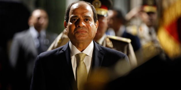 Egyptian President Abdel-Fattah al-Sisi reviews an honour guard of troops prior to a meeting with with French Defence Minister Florence Parly at The Defence Ministry in Paris on October 23, 2017. Egyptian President Abdel-Fattah el-Sissi is starting a three-day visit to France, during which human rights, along with economic and military cooperation are expected to be discussed.  / AFP PHOTO / POOL / Thibault Camus        (Photo credit should read THIBAULT CAMUS/AFP/Getty Images)