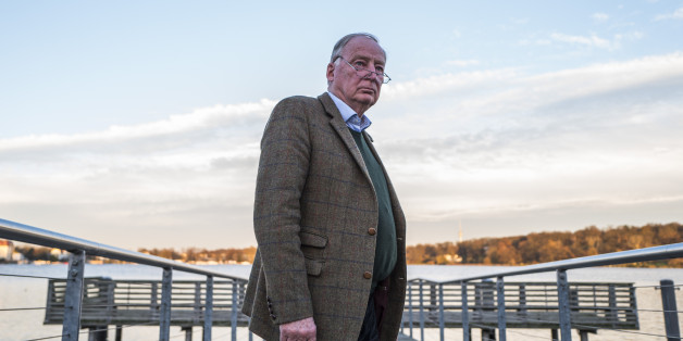 Alexander Gauland, co-leader of the far right 'Alternative for Germany' party (AfD), poses prior to an interview with AFP journalists on November 23, 2017 in Potsdam. 