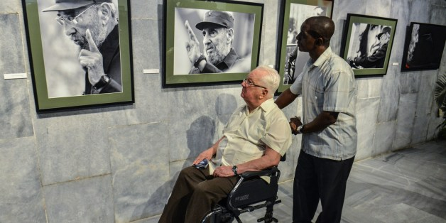 Armando Hart, former member of the Cuban government, and friend of former Cuban president Fidel Castro, attends the opening of a photography exhibition on him, on August 12, 2014 in Havana. Fidel Castro will turn 88 years old on Wednesday.       AFP PHOTO/ADALBERTO ROQUE        (Photo credit should read ADALBERTO ROQUE/AFP/Getty Images)