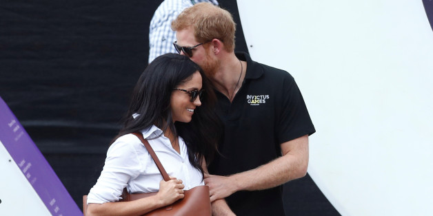Britain's Prince Harry (R) arrives with girlfriend Meghan Markle at the wheelchair tennis event during the Invictus Games in Toronto, Ontario, Canada September 25, 2017. Picture taken September 25, 2017.     REUTERS/Mark Blinch