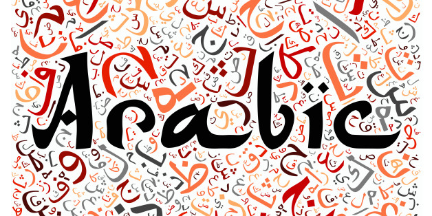 arabic alphabet texture background - with the word 'arabic'