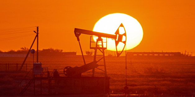 A pumpjack is the overground drive for a reciprocating piston pump in an oil well.