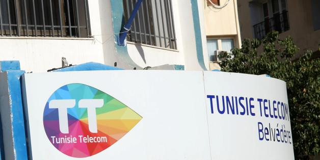 The Tunisie Telecom logo is seen at the headquarters downtown in Tunis, Tunisia November 28, 2017. REUTERS/Zoubeir Souissi