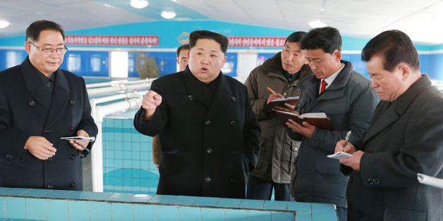 This undated photo released by North Korea's official Korean Central News Agency (KCNA) on November 28, 2017 shows North Korean leader Kim Jong-Un at the newly built Sunchon Catfish Farm in South Pyongan Province. / AFP PHOTO / KCNA via KNS AND AFP PHOTO / - / South Korea OUT / REPUBLIC OF KOREA OUT   ---EDITORS NOTE--- RESTRICTED TO EDITORIAL USE - MANDATORY CREDIT 'AFP PHOTO/KCNA VIA KNS' - NO MARKETING NO ADVERTISING CAMPAIGNS - DISTRIBUTED AS A SERVICE TO CLIENTS