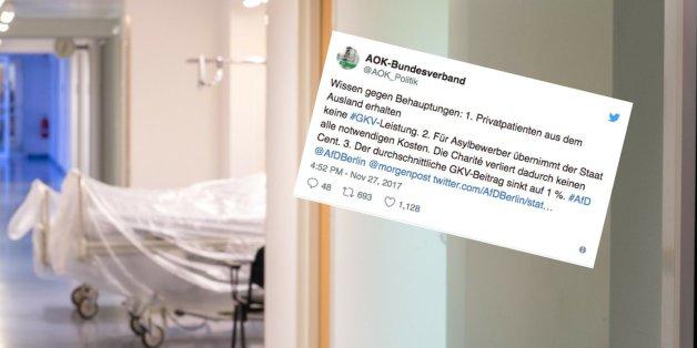 AfD pöbelt wegen angeblicher hoher Gesundheitskosten für Flüchtlinge - die Antwort der AOK sitzt