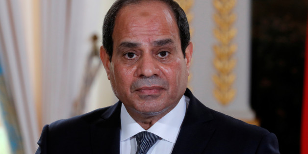 Egyptian President Abdel Fattah al-Sisi attends a news conference at the Elysee Palace in Paris, France,  October 24, 2017. REUTERS/Philippe Wojazer