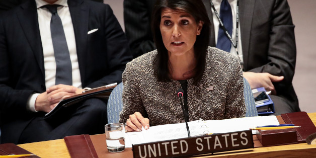 NEW YORK, NY - NOVEMBER 29:  Nikki Haley, U.S. ambassador to the United Nations, speaks during an emergency meeting of the United Nations Security Council concerning North Korea's nuclear ambitions, at the United Nations headquarters, November 29, 2017 in New York City. North Korea test fired an advanced intercontinental ballistic missile on Tuesday. (Drew Angerer/Getty Images)