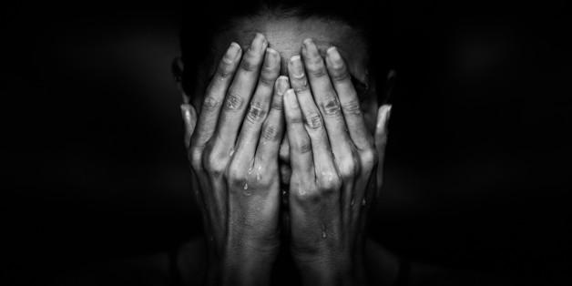 Tears. Cry or grief feeling