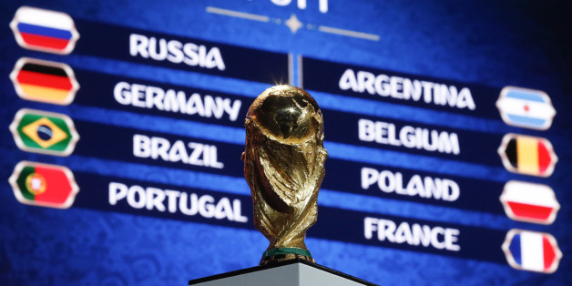 "The World Cup trophy is on display during the ""Behind the scenes of the Final Draw"" event prior to the upcoming Final Draw of the 2018 FIFA World Cup Russia in Moscow, Russia November 29, 2017. REUTERS/Sergei Karpukhin"