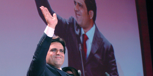 Tunisian billionaire Slim Riahi speaks during a political meeting in Tunis, on September 30, 2011. Tunisians formed long lines to cast ballots on October 23 in the elections for a constituent assembly that will write a new constitution and appoint a president of a caretaker government, nine months after ousting a dictator and giving birth to the Arab Spring. AFP PHOTO / Hasna (Photo credit should read HASNA/AFP/Getty Images)