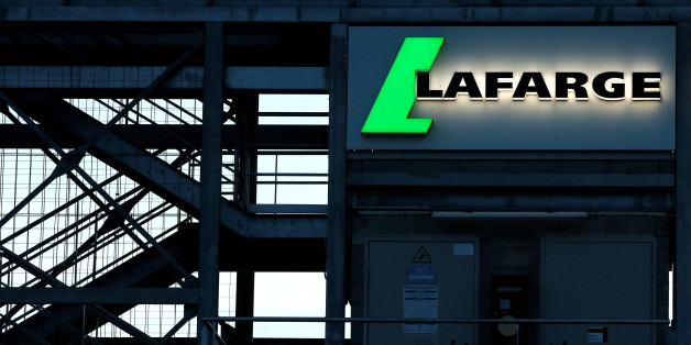 The logo of the French building materials maker Lafarge is seen in Paris, France May 22, 2017. Picture taken May 22, 2017. REUTERS/Gonzalo Fuentes