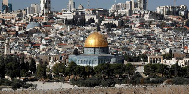 A picture shows the Dome of the Rock mosque and a general view of Jerusalem on December 1, 2017. US President Donald Trump may recognize Jerusalem as the capital of Israel. The international community says Jerusalem's status must be negotiated between Israelis and Palestinians. Israel occupied east Jerusalem in the 1967 Six-Day War and later annexed it in a move never recognised by the international community. / AFP PHOTO / THOMAS COEX        (Photo credit should read THOMAS COEX/AFP/Getty Image