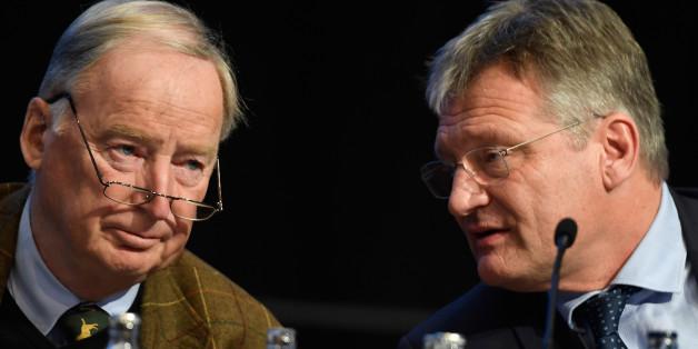Die AfD-Bundesvorsitzenden Alexander Gauland und Jörg Meuthen
