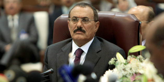 Yemen's President Ali Abdullah Saleh attends the opening of the Sixth Summit of Sanaa Forum for Co-operations in Sudan's capital Khartoum, December 30, 2008. REUTERS/Mohamed Nureldin Abdallah (SUDAN)