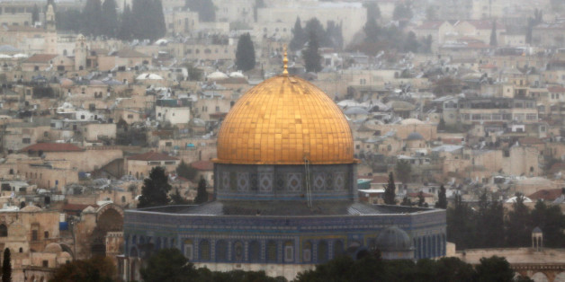 A general view of Jerusalem shows the Dome of the Rock, located in Jerusalem's Old City on the compound known to Muslims as Noble Sanctuary and to Jews as Temple Mount, December 6, 2017. REUTERS/Ammar Awad