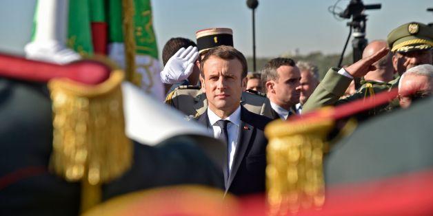 Accueil d'Emmanuel Macron à Alger, le 6 décembre 2017