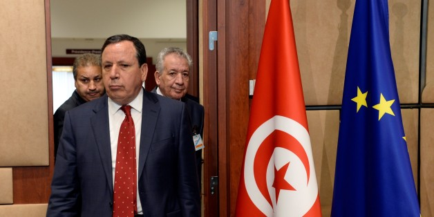 Tunisian Foreign Affairs minister Khemaies Jhinaoui arrives for a signature of an agreement between European Union and Tunisia at the EU Council building in Brussels, on May 11, 2017.  / AFP PHOTO / THIERRY CHARLIER        (Photo credit should read THIERRY CHARLIER/AFP/Getty Images)