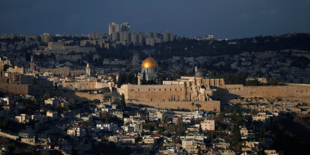 A general view of Jerusalem shows the Dome of the Rock, located in Jerusalem's Old City on the compound known to Muslims as Noble Sanctuary and to Jews as Temple Mount December 6, 2017. REUTERS/Ronen Zvulun