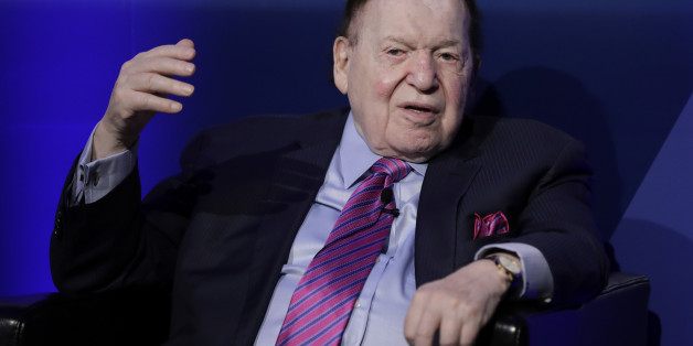 Billionaire Sheldon Adelson, chairman and chief executive officer of Las Vegas Sands Corp., speaks during a keynote presentation session at the 14th CLSA Japan Forum in Tokyo, Japan, on Tuesday, Feb. 21, 2017. Japan is the 'ultimate business opportunity' for integrated casino resorts, Adelson said. Photographer: Kiyoshi Ota/Bloomberg via Getty Images
