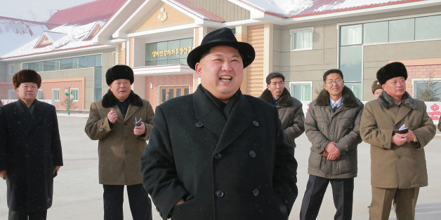This undated picture released from North Korea's official Korean Central News Agency (KCNA) on December 6, 2017 shows North Korean leader Kim Jong-Un (C) inspecting the newly-built Samjiyon potato farina production factory in Ryanggang Province, North Korea. / AFP PHOTO / KCNA VIA KNS / STR / South Korea OUT / REPUBLIC OF KOREA OUT   ---EDITORS NOTE--- RESTRICTED TO EDITORIAL USE - MANDATORY CREDIT 'AFP PHOTO/KCNA VIA KNS' - NO MARKETING NO ADVERTISING CAMPAIGNS - DISTRIBUTED AS A SERVICE TO CLI