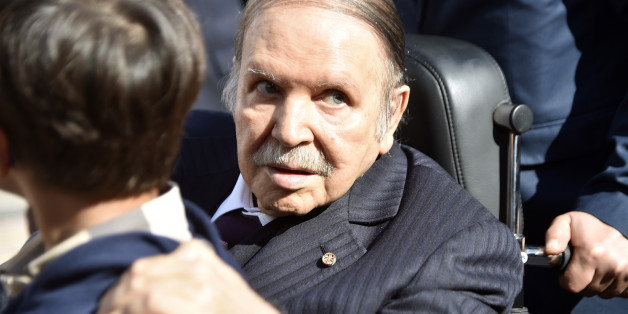 Algerian President Abdelaziz Bouteflika is seen while voting at a polling station in Algiers on November 23, 2017 as Algeria goes to the polls for local elections.  / AFP PHOTO / RYAD KRAMDI        (Photo credit should read RYAD KRAMDI/AFP/Getty Images)