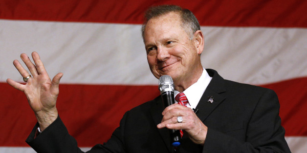 Republican candidate for U.S. Senate Judge Roy Moore speaks during a campaign event in Fairhope, Alabama, U.S., December 5, 2017.  REUTERS/Jonathan Bachman