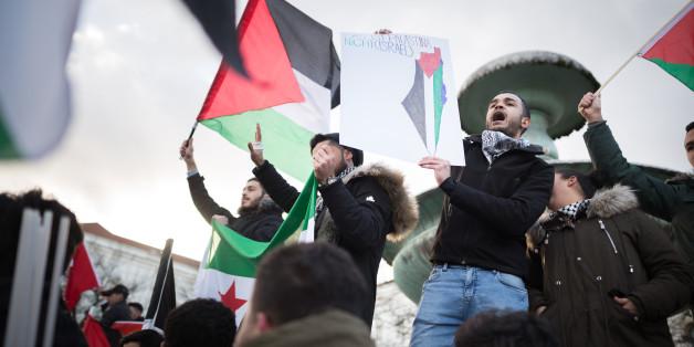 Radikale Palästinenser kapern Demonstration in München